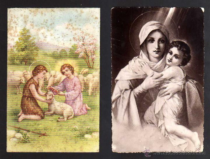 2 POSTALES RELIGIOSAS. CIRCULADAS (Postales - Postales Temáticas - Religiosas y Recordatorios)