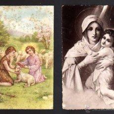 Postales: 2 POSTALES RELIGIOSAS. CIRCULADAS . Lote 39338324