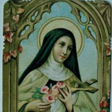 Postales: PRECIOSA Y ANTIGUA ESTAMPITA RELIGIOSA DE S. THERESIA A JESU INFANTE . Lote 39488602