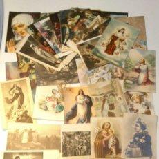 Postales: LOTE 50 TARJETA POSTAL RELIGIOSA ESPAÑOLA ENTRE LOS AÑOS 30-60.CASI TODAS SIN CIRCULAR. .. Lote 39583171