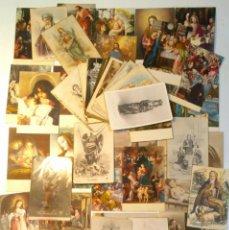 Postales: LOTE 60 TARJETA POSTAL RELIGIOSA ESPAÑOLA. ENTRE AÑOS 30-60. CASI TODAS SIN CIRCULAR. . . Lote 39583271