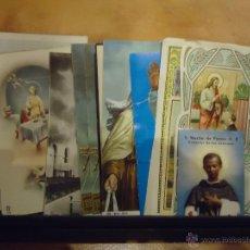 Postales: LOTE DE 10 ESTAMPAS Y POSTALES RELIGIOSAS DIFERENTES MEDIDAS Y MOTIVOS. Lote 39657223
