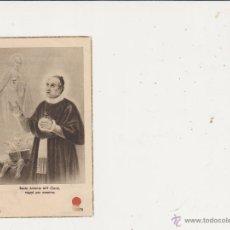 Postales: ESTAMPA BEATO ANTONIO MARIA CLARET CON RELIQUIA. Lote 39741452