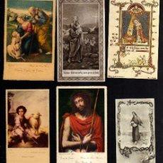 Postales: LOTE DE ESTAMPAS RELIGIOSAS, RECORDATORIOS, ETC.. Lote 39964014
