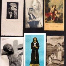 Postales: LOTE DE ESTAMPAS RELIGIOSAS, RECORDATORIOS, ETC.. Lote 39964018