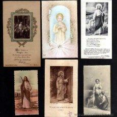 Postales: LOTE DE ESTAMPAS RELIGIOSAS, RECORDATORIOS, ETC.. Lote 39964024