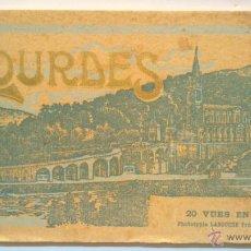 Postales: LIBRO CON 20 POSTALES DE LOURDES DE LA PRIMERA MITAD DEL S.XX. CON SUS SEPARADORES DE PAPEL FINO. Lote 39965162