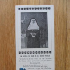 Postales: ESTAMPA LA SIERVA DE DIOS MARIA RAFOLS, . Lote 40011010