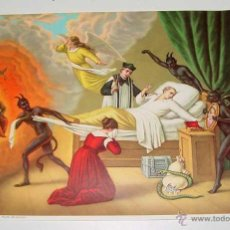 Postales: ANTIGUA LAMINA DE MUERTE DEL PECADOR. MIDE 26 X 19 CMS-. DE CONSERVACION. Lote 206211847