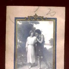 Postcards - ANTIGUO RECORDATORIO, foto en relieve, finales años 20. - 40349598