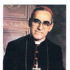 Postales: CURIOSA ESTAMPA RELIGIOSA XXVIII ANIVERSARIO MARTIRIO OSCAR ROMERO RARA. Lote 40371002