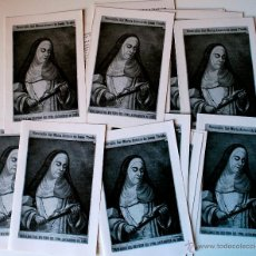 Postales: LOTE DE 24 DÍPTICOS SOBRE LA VENERABLE SOR MARIA ANTONIA DE JESUS TIRADO (JEREZ) . Lote 40406941