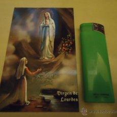 Postales: ANTIGUA ESTAMPA RELIGIOSA VIRGEN DE LOURDES. Lote 40530162