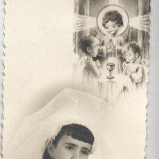 Postales: ESTAMPA RECORDATORIO PRIMERA COMUNIÓN / FOTO GUIRAU VALENCIA - 1965. Lote 40532913