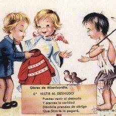Postales: POSTAL: OBRAS DE MISERICORDIA 5 / DIBUJO DE ELSE, ELOI, ELOÍSA ? ( AÑOS 60). Lote 40535718
