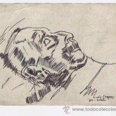 Postales: RECORDATORIO DEFUNCIÓN DIBUJO - SABADELL, MARZO 1942. Lote 40540098