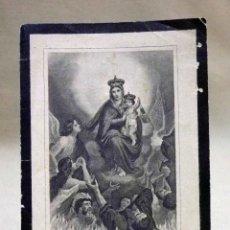 Postales: ESTAMPA DE DEFUNCION, LUTO, RECORDATORIO, AYELO DE MALFERIT O AIELO, 1895. Lote 40590386