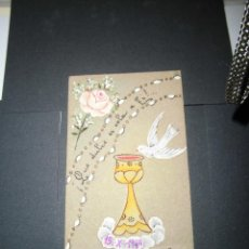 Postales: ESTAMPA RELIGIOSA ESTAMPA RELIGIOSA PINTADA A MANO 15-X- 1949. Lote 40699913