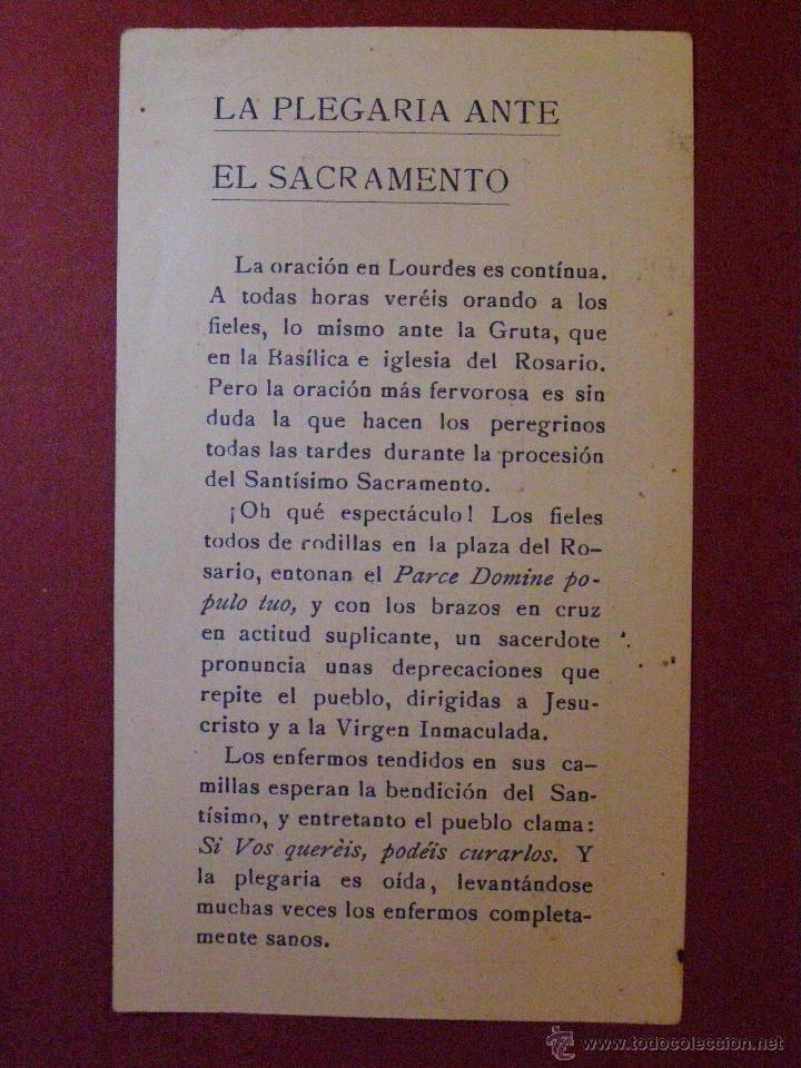 Postales: Cofradia de Nuestra Señora de Lourdes - Reus - Plegaria Ante el Sacramento. - Foto 2 - 40701752