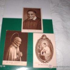 Postales: 3 POSTALES. SAN VICENTE DE PAÚL, SAN LUIS GONZAGA Y SAN ALFONSO RODRÍGUEZ, PATRÓN MALLORCA. AÑOS 20. Lote 40927366