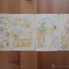 Postales: LOTE 4 POSTALES ARTE SACRO - SERIE MONTSERRAT - CIRCA 1950 - SIN CIRCULAR. Lote 41022656