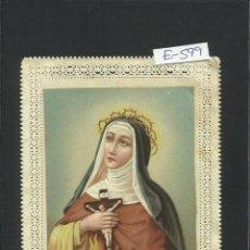 Postales: ESTAMPA PUNTILLA - SANTA TERESA DE JESUS -(E-599). Lote 41025707
