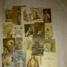 Postales: LOTE DE 19 ESTAMPAS RELIGIOSAS. Lote 41068630