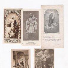 Postales: LOTE 5 ESTAMPAS RELIGIOSAS. Lote 41143048