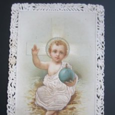 Postales: ANTIGUA ESTAMPA RELIGIOSA. TROQUELADA CON RELIEVE. . Lote 41206974