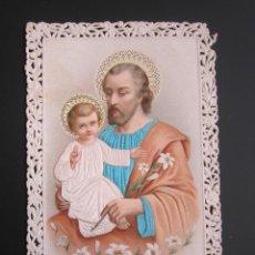 Postales: ANTIGUA ESTAMPA RELIGIOSA. TROQUELADA CON RELIEVE. . Lote 41207051