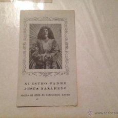 Postales: NUESTRO PADRA JESUS NAZARENO IGLESIA DE JESUS PP CAPUCHINOS MADRID. Lote 41324120