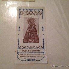 Postales: NUESTRA SEÑORA DE LOS DESAMPARADOS AYUDA A UN ENFERMO Nº8. Lote 41324208