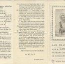 Postales: TRIPTICO NOVENA DE LA GRACIA DE SAN FRANCISCO JAVIER 21 X 14 CM. Lote 41366379