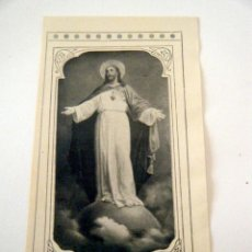 Postales: ESTAMPA SAGRADO CORAZÓN PROMESAS DE JESUCRISTO IMPRESAS AL DORSO. Lote 41389134