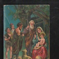 Postales: TARJETA POSTAL RELIGIOSA - PASTORES EN EL NACIMINETO. P.F Nº 9443 GEL. Lote 41415001