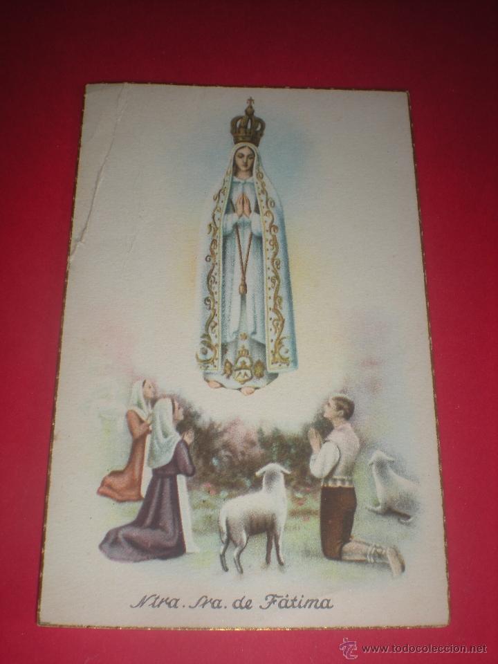 POSTAL RELIGIOSA. NTRA. SRA. DE FÁTIMA. (Postales - Postales Temáticas - Religiosas y Recordatorios)