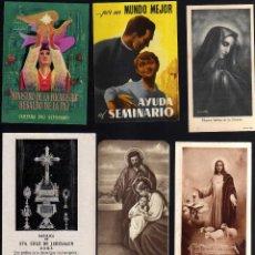 Postales: 7 ESTAMPAS RELIGIOSAS, RECORDATORIOS, ETC.. Lote 41674622