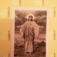 Postales: ANTIGUA ESTAMPA RELIGIOSA , SAGRADO CORAZON DE JESUS, CRISTO. Lote 41737226