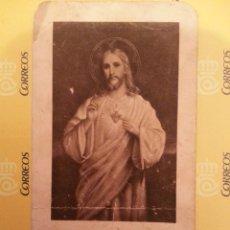 Postales: ANTIGUA ESTAMPA RELIGIOSA , CRISTO SAGRADO CORAZON DE JESUS. Lote 41750594