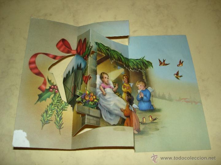 Tarjeta troquelada con motivos infantiles y nav comprar - Tarjetas con motivos navidenos ...