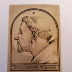 Postales: ESTAMPA SANTO DOMINGO DE GUZMAN 1948 PLEGARIA POR DETRAS. Lote 41854609