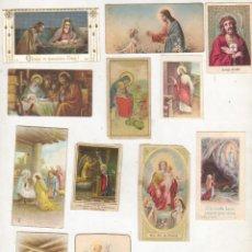 Postales: LOTE DE 14 MINI ESTAMPAS RECORDATORIOS - RELIGIOSAS- TODAS DISTINTAS. Lote 41989269
