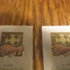 Postales: LOTE 2 RECORDATORIOS DE PRIMERA COMUNIÓN SEGOVIA 1970. Lote 42092433