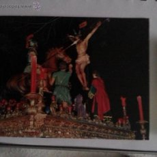 Postales: ANTIGUA POSTAL SEMANA SANTA MALAGA N 10 CRISTO DE LA SANGRE, ESCUDO ORO. Lote 42104532