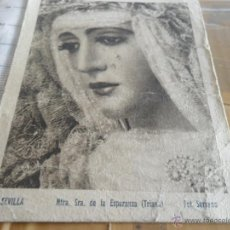 Postales: FOTO ESPERANZA DE TRIANA FOTO SERRANO FIRMADA PAQUITA RICO SEMANA SANTA DE SEVILLA. Lote 42208512