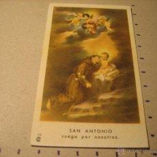 Postales: ESTAMPA RELIGIOSA: SAN ANTONIO . Lote 42228191
