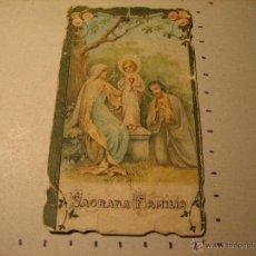 Postales: ESTAMPA RELIGIOSA: TROQUELADA. SAGRADA FAMILIA. DESLUCIDA. Lote 42229317