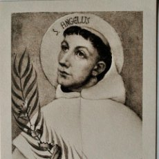 Postales: ESTAMPITA RELIGIOSA ANTIGUA DE SAN ANGELUS . Lote 42280115