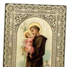 Postales: ESTAMPA RELIGIOSA SAN ANTONIO . Lote 42284490