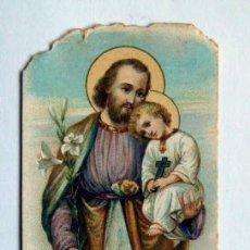 Postales: VIEJA ESTAMPA RELIGIOSA SAN JOSÉ IMPRESA EN MILAN. Lote 119053322